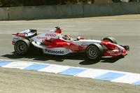 Bob Pengraph's gallery of the Toyota Formula 1 car demonstration at Mazda Raceway Laguna Seca during the 2006 Monterey Historics weekend